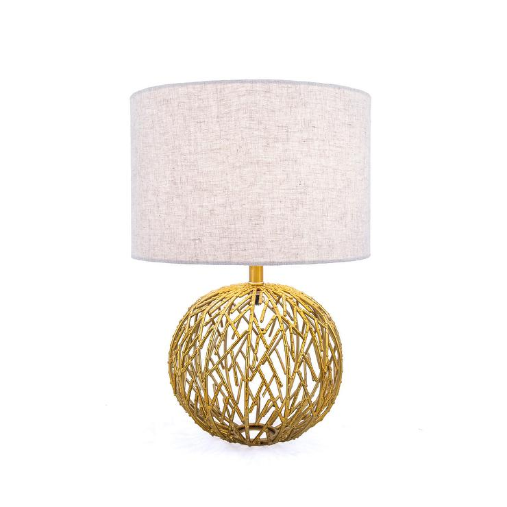 Modern Gold Cut Out Lamp Base