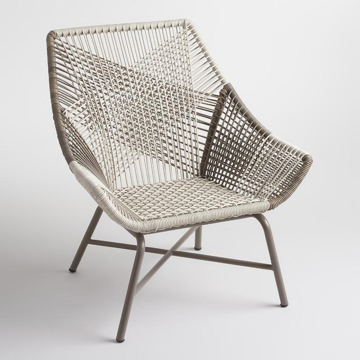 Swell Gray Andalusia Woven Chair Pabps2019 Chair Design Images Pabps2019Com