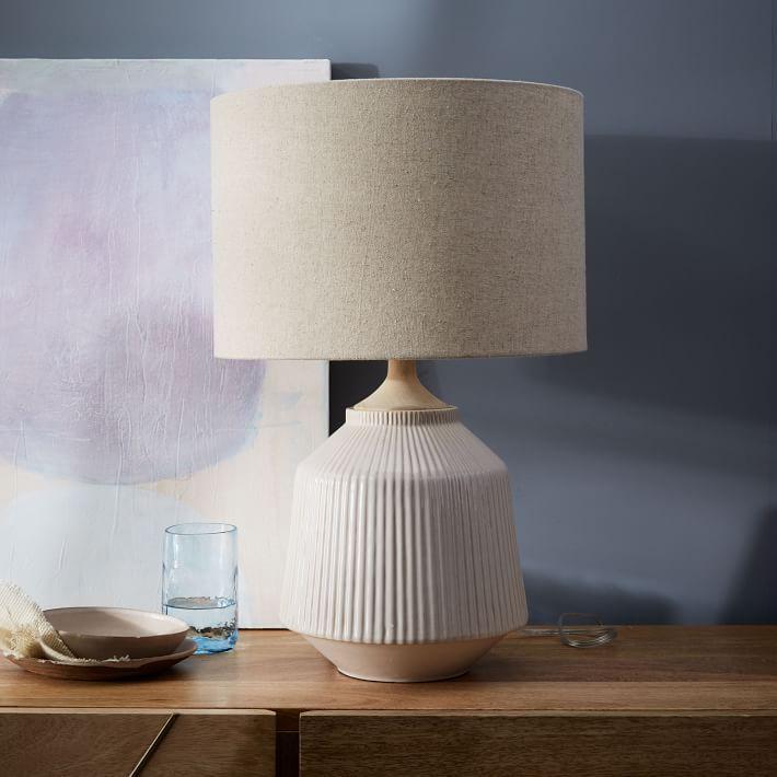 Ripple ceramic table lamp white ripple ceramic table lamp aloadofball Gallery