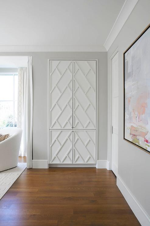 Closet with Fretwork Doors & Closet with Fretwork Doors - Transitional - Bedroom