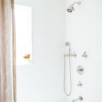 polished nickel shower kit