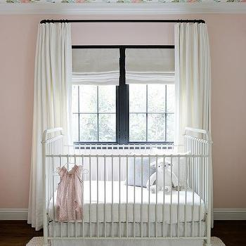 Floor To Ceiling Pink Drapes Design Ideas