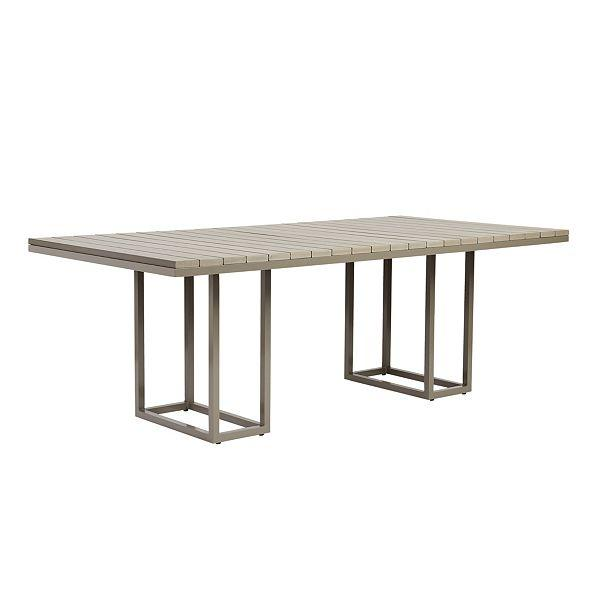 Mustique Black Aluminum Dining Table - Aluminum dining table