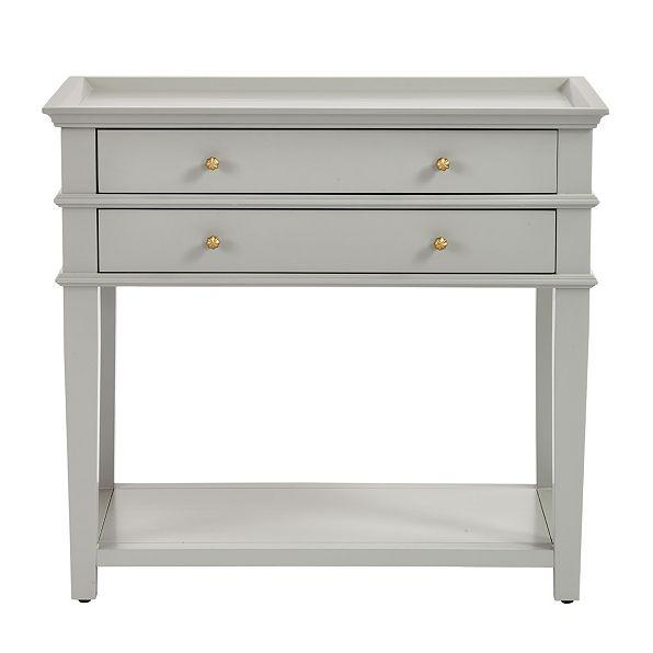 Popular Grace Gray Two Drawer Nightstand MK32
