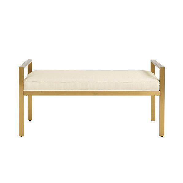 Darby Metal Upholstered Bench