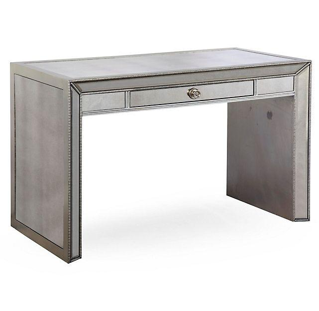 Lovely Omni Silver Mirrored Writing Desk ID56