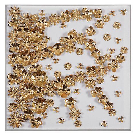 Gold Flora Foil Wall Art