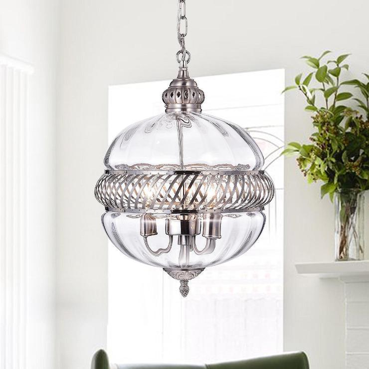 Permin Glass Metal Globe Pendant