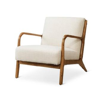 target threshold rodney wood arm chair view full size - Wood Frame Chair