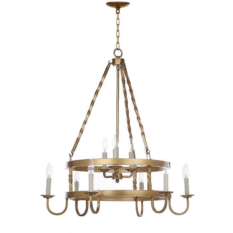 Crowley gold two tier chandelier aloadofball Gallery