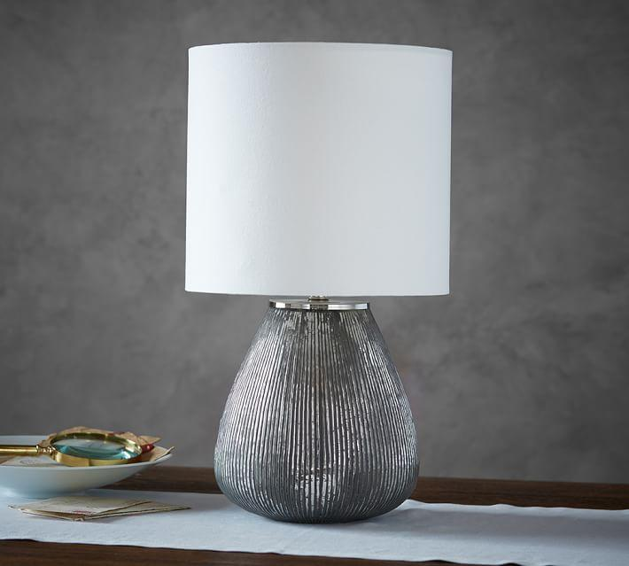 Rosie Silver Textured Table Lamp