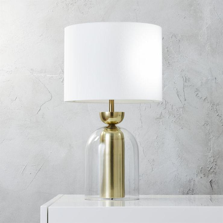 Bell Jar Glass Table Lamp