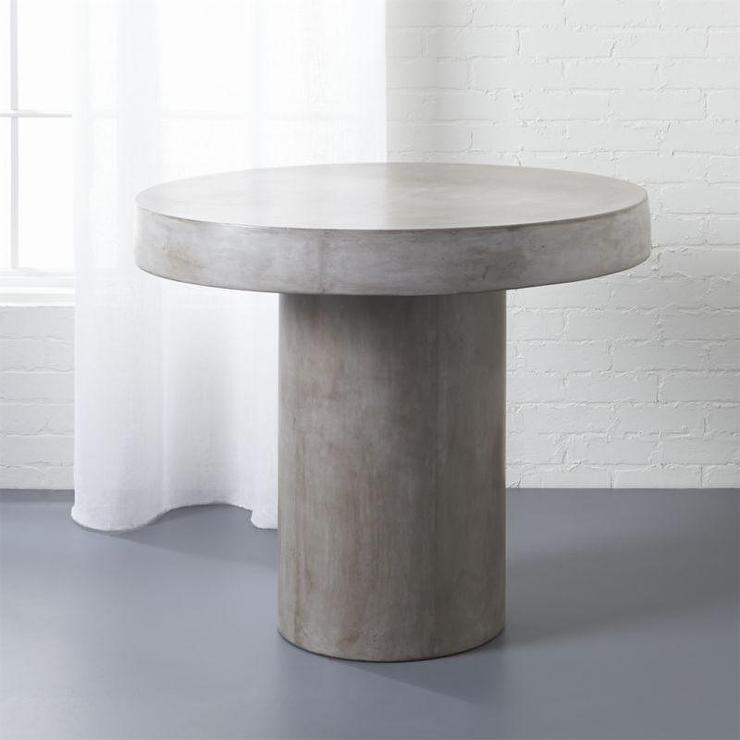 Fuze Gray Cement Bistro Table - Cb2 stone table