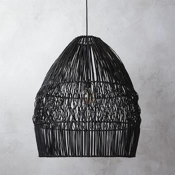 Modern Black Wicker Hanging Light - Products, bookmarks, design ...