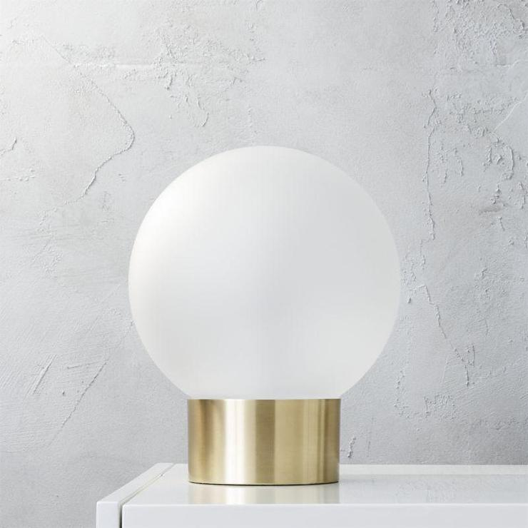 Oracle Gold Globe Table Lamp