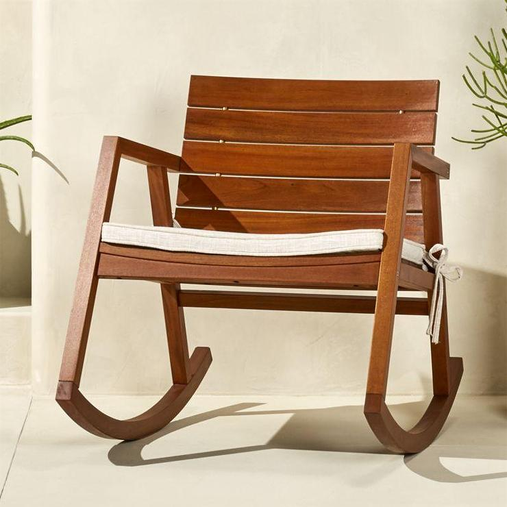valalta curved wood rocking chair