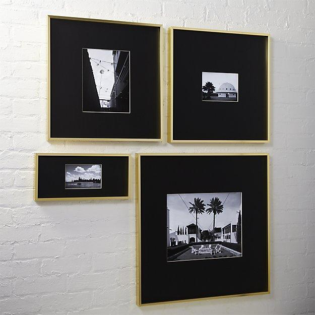 Gallery gold black mats picture frame