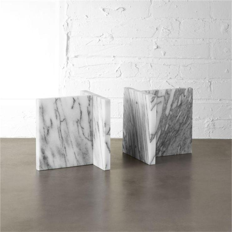 Gold Marble Bookends