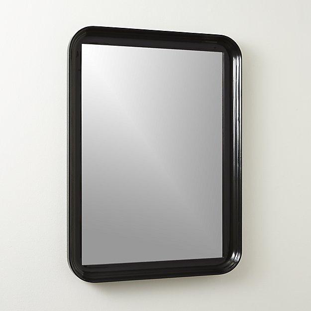 Loft Matte Black Iron Frame Mirror