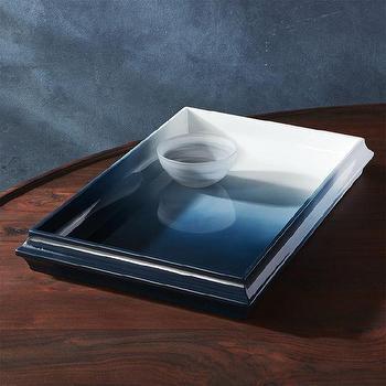 Threshold Aqua Blue Ombre Accent Table