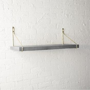 Adler Gold Prism Glass Wall Shelf