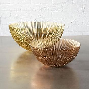 Threshold Round Iron Wire Gold Table