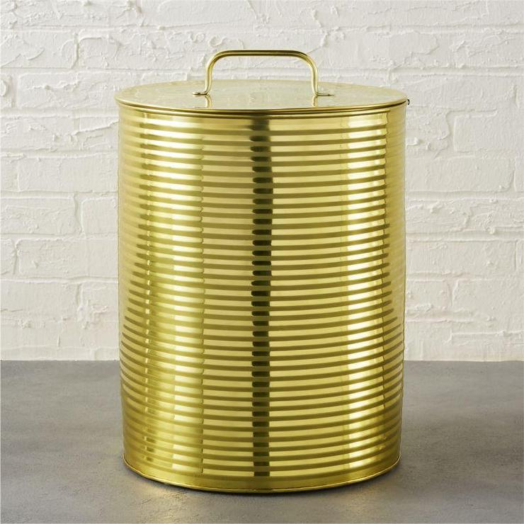 Mesh metal gold hamper - Modern hamper with lid ...
