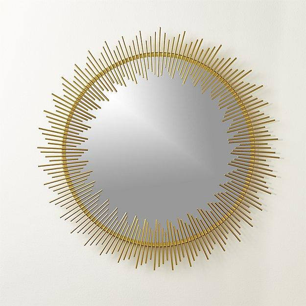 Fabulous Rocco Round Sunburst Wall Mirror YC49