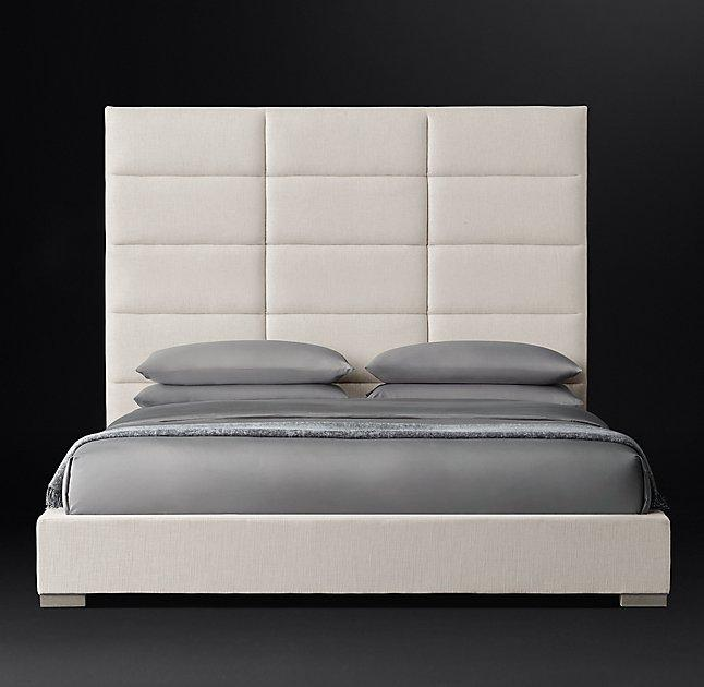 Modena Non Tufted Shelter Fabric Platform Bed