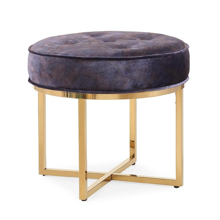 Incredible Layla Velvet Peacock Tufted Ottoman Gmtry Best Dining Table And Chair Ideas Images Gmtryco