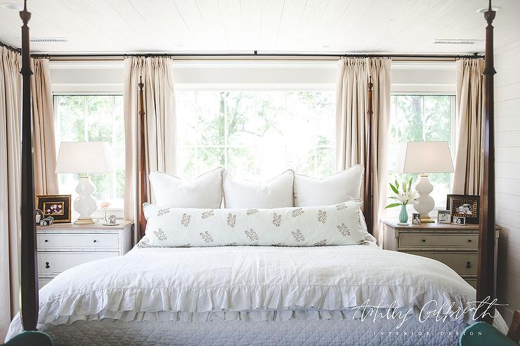 Grey Tufted Ottoman Contemporary Bedroom The Design