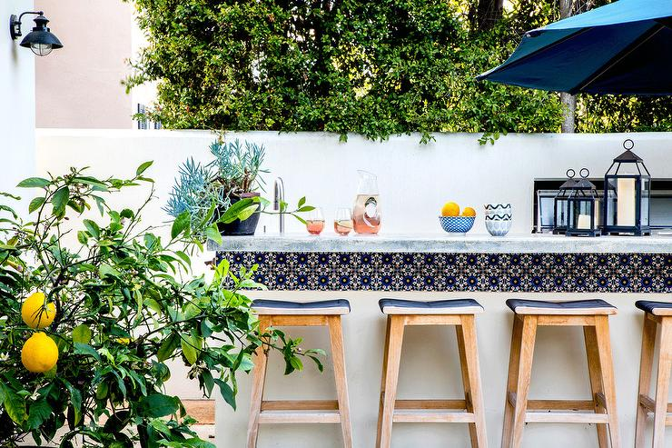 Malibu Blue Spanish Outdoor Bar Tiles Transitional