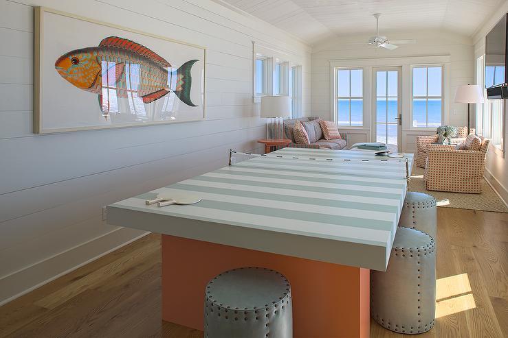 Beach Style Game Room Design Ideas