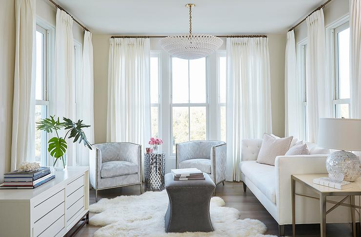 Gray Velvet Chairs With Metal Lattice Accent Table Transitional