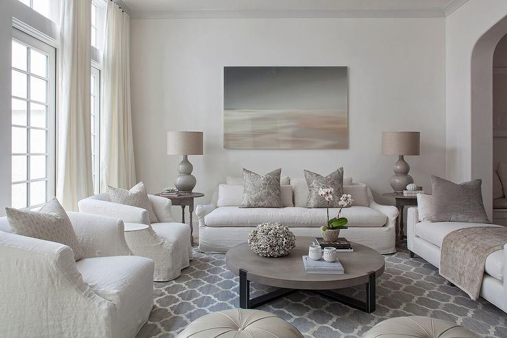 Ordinaire Ivory And Gray Living Room Color Scheme
