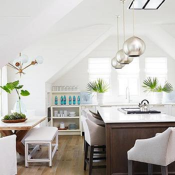 Kitchen Nook with Shelves