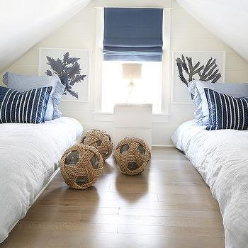 Attic Boys Bedroom With Platform Beds
