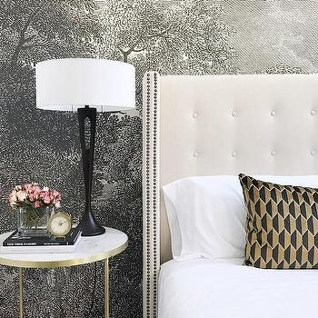 Black and white bedroom wall mural design ideas for Anthropologie etched arcadia mural