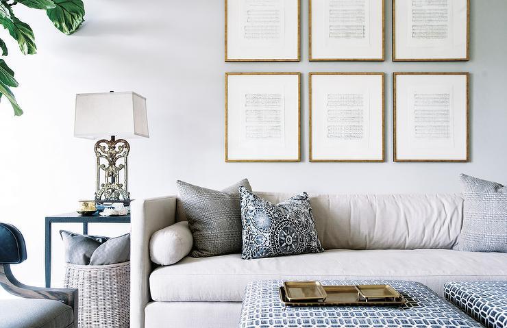 Light Gray Shelter Arm Sofa