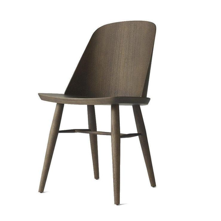 Amazing Synnes Curved Back Dark Ash Dining Chair Creativecarmelina Interior Chair Design Creativecarmelinacom