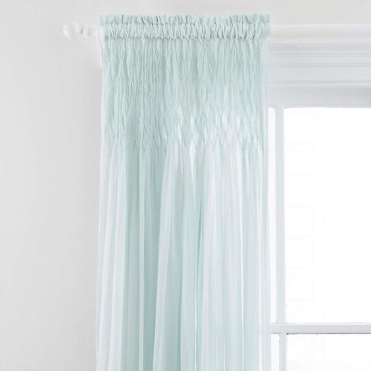 Voile Robins Egg Blue Curtain Panel