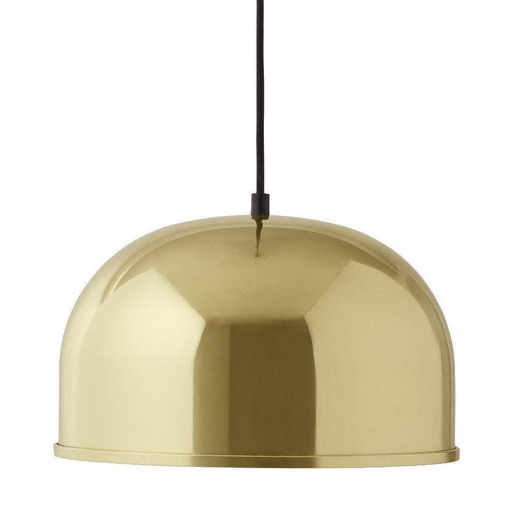 GM Polished Nickel Dome Pendant Lamp