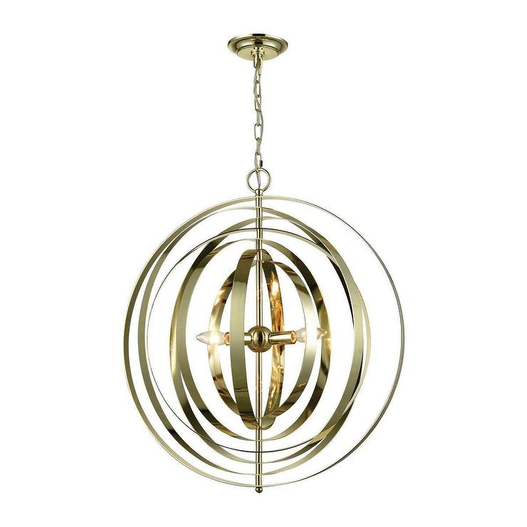 Synchrony round gold plated rings chandelier aloadofball Image collections