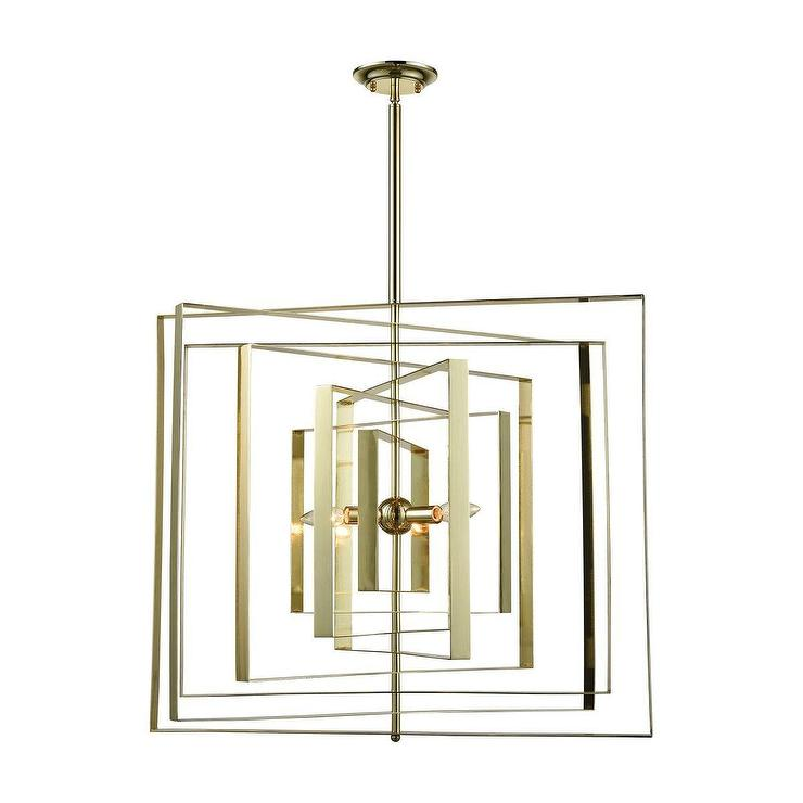 Synchrony square gold plated chandelier aloadofball Image collections