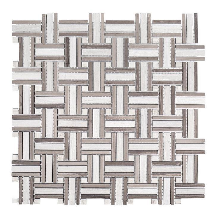 lewis woven limestone mosaic tile