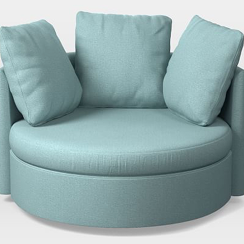 West Elm Shelter Round Swivel Chair view full size & Blue Round Swivel Lounge Chair - Look 4 Less and Steals and Deals.