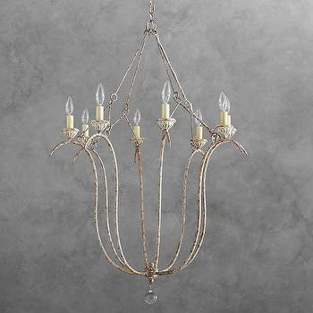Vintage white chandelier products bookmarks design inspiration simone spun rustic steel chandelier aloadofball Gallery