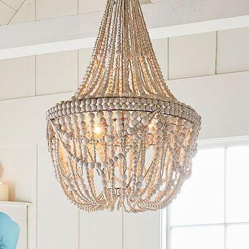 francesca whitewashed beaded chandelier