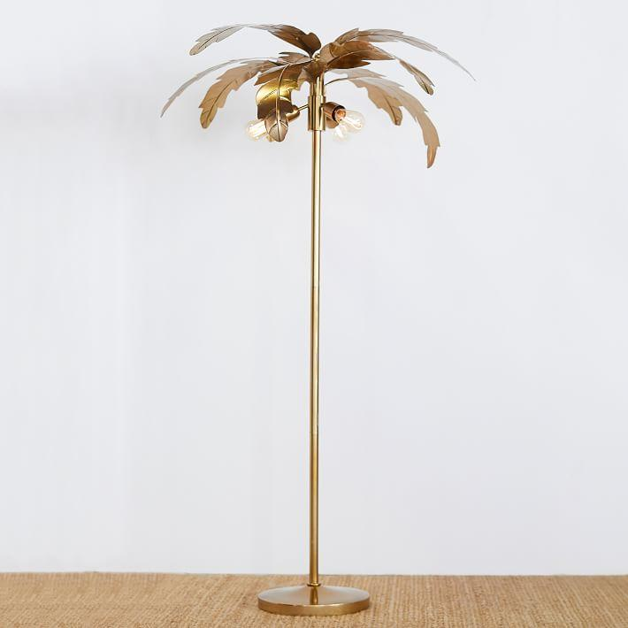 Emily Meritt Gold Palm Floor Lamp