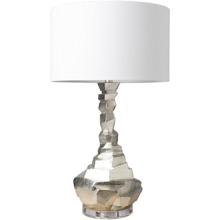 Zevgar Geometrical Silver Acrylic Table Lamp